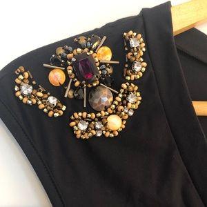 Balmain Jeweled Shoulder Top